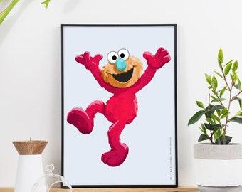 Sesame Street Elmo Graphic Print