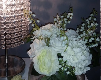Fishbowl Flower Arrangements - With Crystals