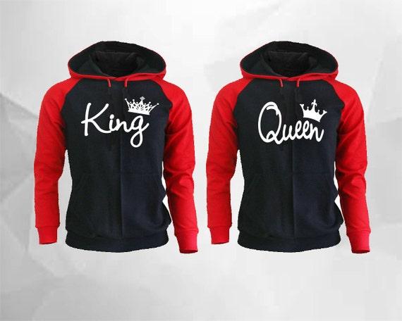 king queen hoodies king queen raglan hoodies king hoodie queen. Black Bedroom Furniture Sets. Home Design Ideas