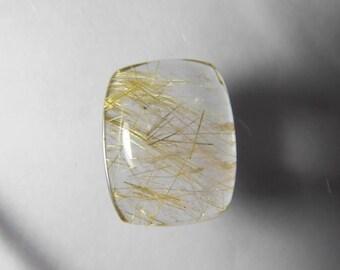 AAA+ Natural Rutilated quartz cabochon, Golden Rutile Quartz, Rutilated quartz gemstone,rutilated quartz loose stone 19 Cts. #2208N