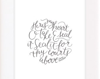 Come Thou Fount 8x10 Calligraphy Print