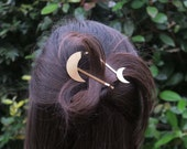 Maele moon hair clip // geometric hair clip // best friend gift // sister gift // gift for her // barrette // gold hair accessories // slide
