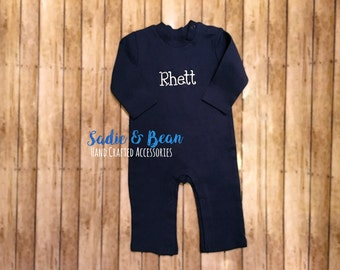 Personalized Romper, Monogrammed Shirt, boys Romper, baby boy, baby girl, toddler, baby shower gift, going home outfit, monogrammed