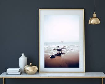 Beach print, Beach photography, beach decor, beach wall art, coastal decor, ocean landscape,  ocean print, Coastal Beach Art, Ocean Water