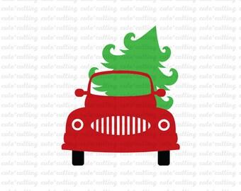 Christmas truck svg, truck svg, Christmas svg, truck tree svg dxf jpeg cutting files for Silhouette Cameo, Portrait, Curio, Cricut