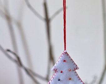 Christmas tree, felt ornament, felt Christmas tree, home decor