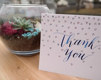 Thank You Cards - Handlettered Calligraphy