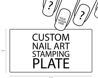 Custom nail stamping plate
