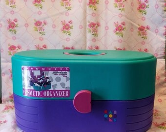 Vintage Purple and Green Caboodles
