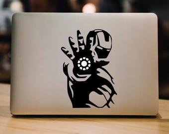 Iron Man Decal Laptop Decal Macbook Decal Iron Man Decal Vinyl Sticker Laptop Decal Laptop Sticker Macbook Decal 077