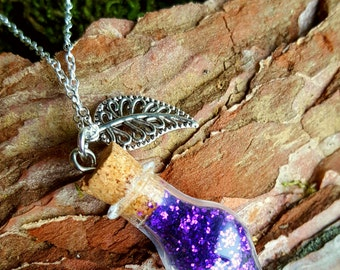 Star dust chain necklace in purple star dust luck guardian angel