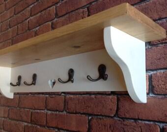 Coat hanger, hooks, shelf, hallway, entry way, coat organiser, organizer, farmhouse, cottage