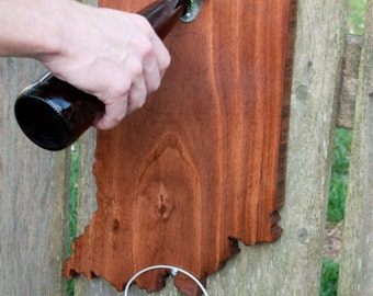 State of Indiana Wall-Mounted Bottle Opener
