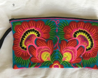 Purse Handbag Bag Wallet clutch Embroidered  Handmade  authentic Boho