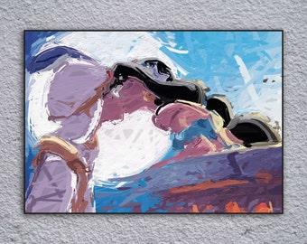 Aladdin Inspired Framed Painting Print