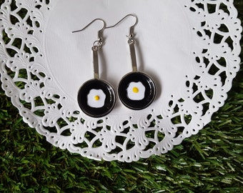 Quirky gifts etsy quirky fried egg earrings quirky gift for her kawaii earrings easter gift for negle Image collections