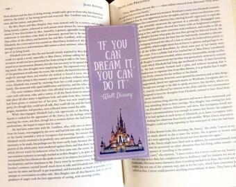 Disney Castle Dream Quote Bookmark