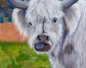Original Acrylic Painting - Scotty the Scottish Highlander