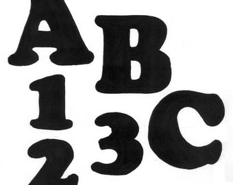"""TRACEABLE ALPHABET #116-  2.5"""" TALL.  All Capital & Small Letters and Numbers"""