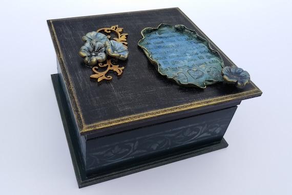 Decoupage Box Jewelry Storage Box Wedding Wishes Box Decoupage