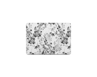 Black and White Floral Macbook Case