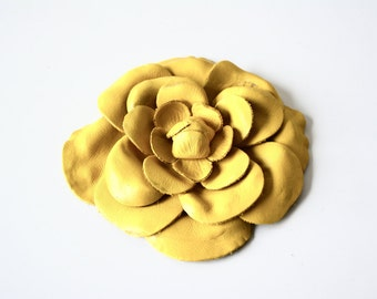 camelia leather  flower