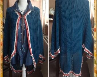 Crochet poncho Cardigan