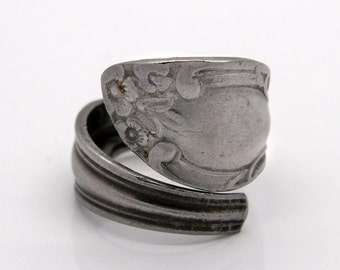 Spoon Ring - Size 10.5 - Hand Bent By The CrafsMan - Steady Craftin'