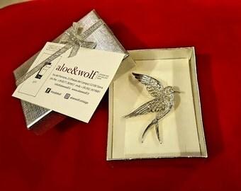 spilla vintage di sarah coventry argentata/ vintage bird brooch pin Sarah Coventry