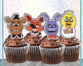 Five Nights at Freddy's Cupcake Toppers FNAF Birthday Printable