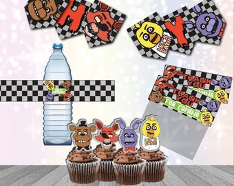Five Nights at Freddy's Party Supplies Digital Download Printable FNAF Party Supplies