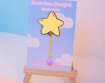 Puffy Star Balloon kawaii enamel pin