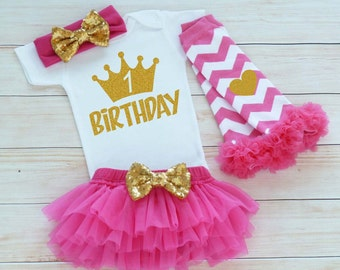 Birthday Girl Outfit, First Birthday Outfit Girl, Birthday Girl Bodysuit, Cake Smash, 1st Birthday Girl Outfit, Tutu Outfit, Birthday Gift