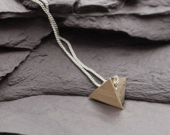 Tetrahedron Platonic Solid Necklace. Gift for her. For Empowerment, Balance, Well being, for Mind Body & Soul.