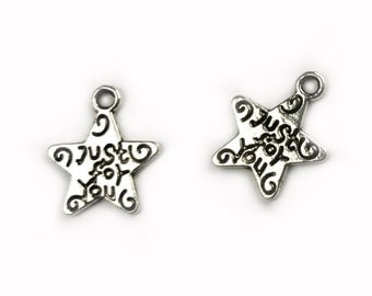 10 pcs Star Just for you Charm - choose your color