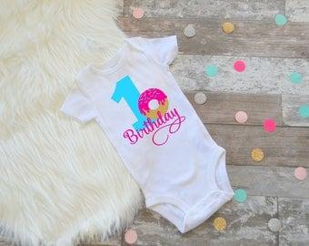Donut First Birthday, Donut Birthday,  First Birthday Outfit, Donut One, Doughnut birthday, Doughnut First Birthday, First Birthday Shirt