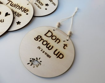 wooden hanger decoration baby room