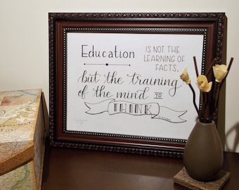 Albert Einstein Quote Education Is Not The Learning Of Facts