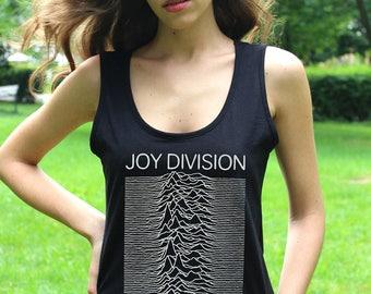 Joy Division Tank Joy Division Shirts Unknown Pleasures Lady Post-Punk Metal T shirt Punk Shirts Women Tee Shirts
