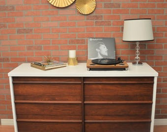 SOLD!  Two-toned Vintage Mid Century Modern Danish Dresser *SOLD*