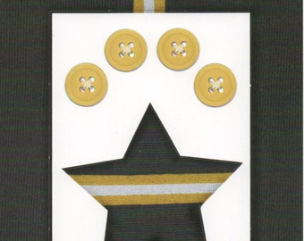Yellow Stripes  Cardstock Frame My Mind's Eye This & That Scrapbook  Embellishments Cardmaking Crafts