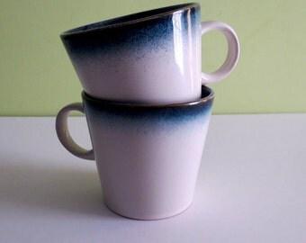Set of 2 Threshold Ashwood Blue Mugs Stoneware Cream and Blue Speckled Mug