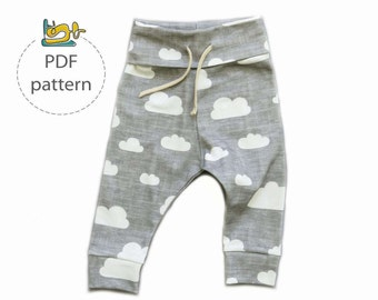 Baby pants sewing pattern, jogger pants pattern, baby leggings pattern, child's pants sewing pattern, baby sweatpants pattern