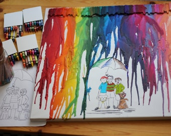"Rainbow picture personalized ""I won't stop you in the rain!"""
