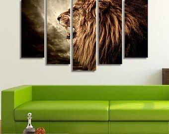 Lion Canvas, Lion Canvas Art, Lion Décor, Lion Print, Lion Photo, Lion Head, Lion Of Judah, Lion Art, Animal Canvas Art, Animal Canvas
