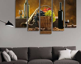 Still Life Photography, Still Life, Grapes, Wine Canvas, Wine Wall Art, Wine Wall Décor, Wine Décor, Kitchen Décor, Restaurant Décor