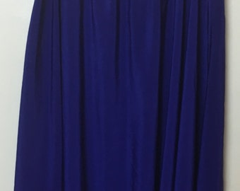 1980's Deep Purple Soft Silky Skirt with Elastic Waist band