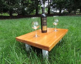 Mini picnic table, Indoor picnic, outdoor picnic table for two, kids picnic table, outdoor wood furniture, camping table,