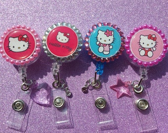 Hello Kitty Badge Reels Set of 4