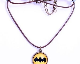 Batman Symbol Necklace or Keychain Bat Crest